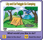 The Camping Trip interactive story book